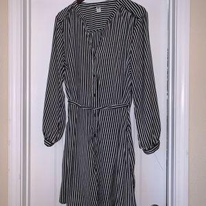 Stripped Shirt Dress